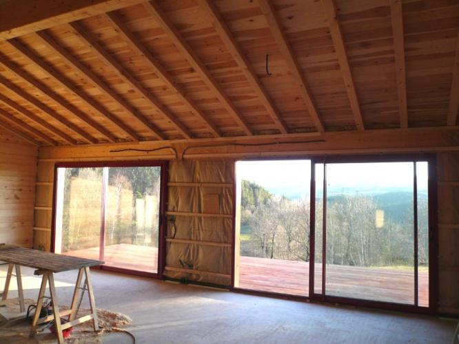 Maison bois sur pilotis : 17_Maison sur pilotis_chantier.JPG