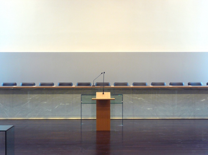 Palais de justice d'Annecy : détail tribune