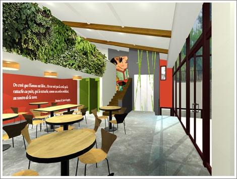 Concour  pour le café du Musée Gadagne. : décoration café gadagne
