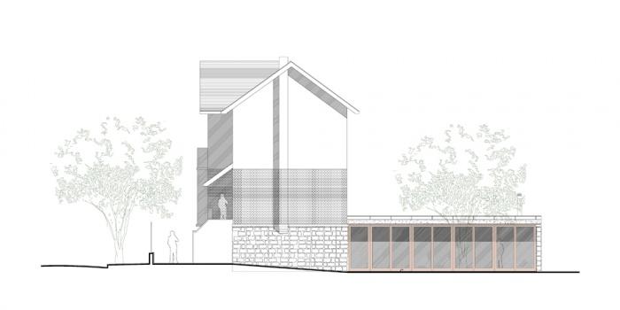 Restructuration et extension d'un pavillon de 1930 : 2008-04-dubois_facade