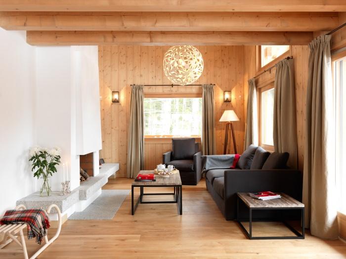 4 chalets_CH : Liarets 4 livingroom