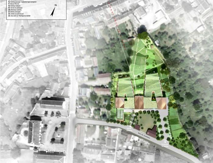 Etablissement hospitalier sous traitance pour soa for Plan masse architecture
