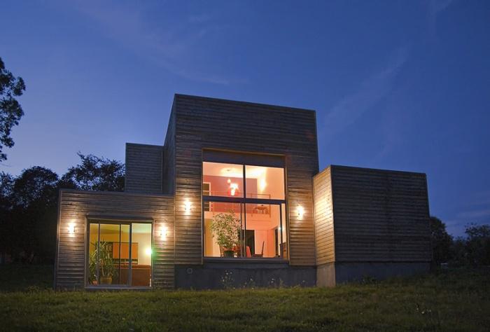 Maison ossature bois contemporaine