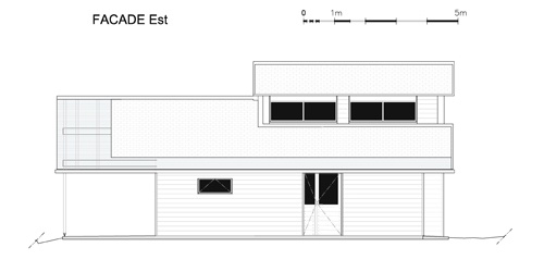Maison individuelle            à Jouhet : Façade Est