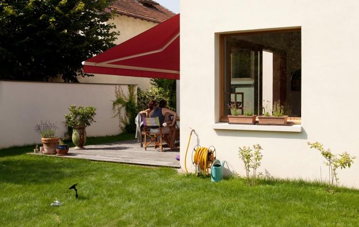 rénovation extension d'une maison ouvrière : l'extension avec la terrasse