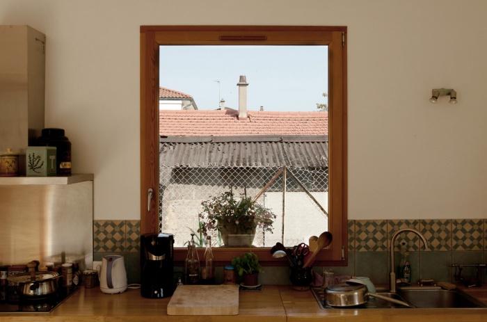 rénovation extension d'une maison ouvrière : fenetre intérieure