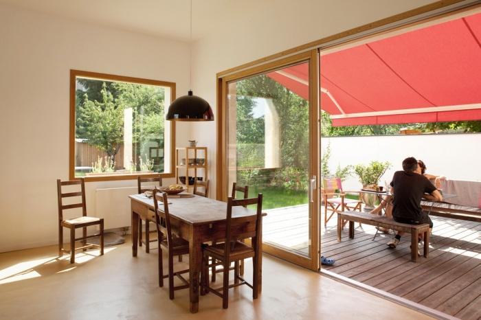 rénovation extension d'une maison ouvrière : salle a manger