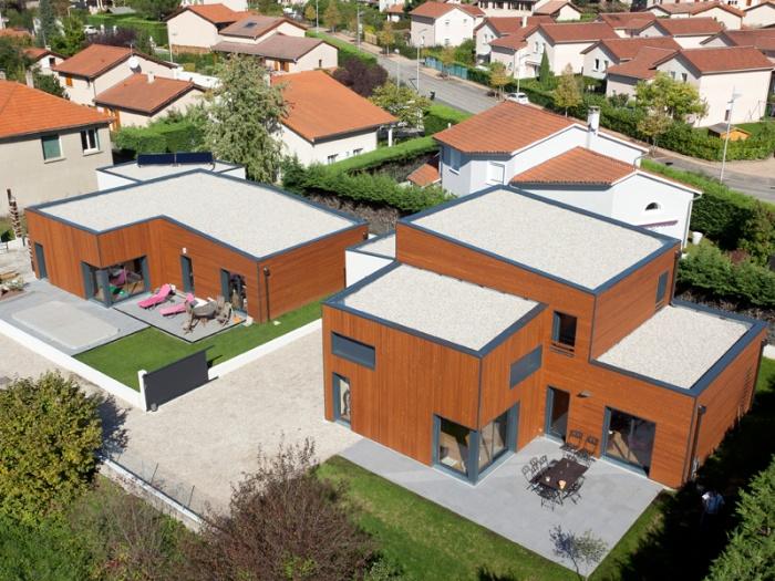 Maison BBC ossature bois à Lyon : architecte lyon maison contemporaine bbc bois
