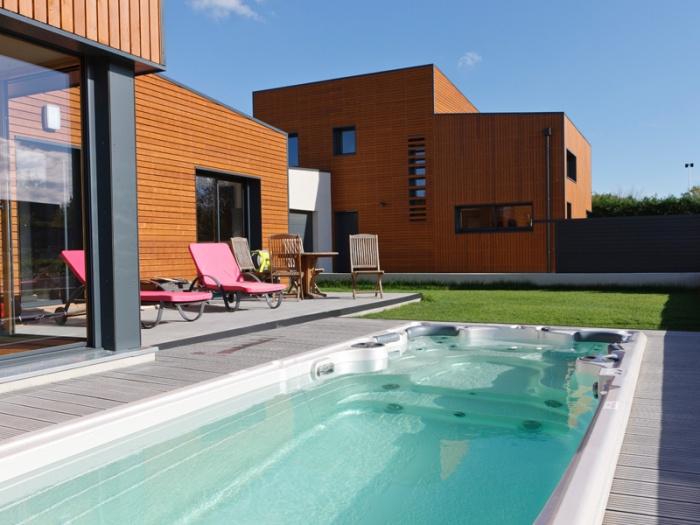 Maison BBC ossature bois à Lyon : maison ossature bois contemporaine lyon architecte