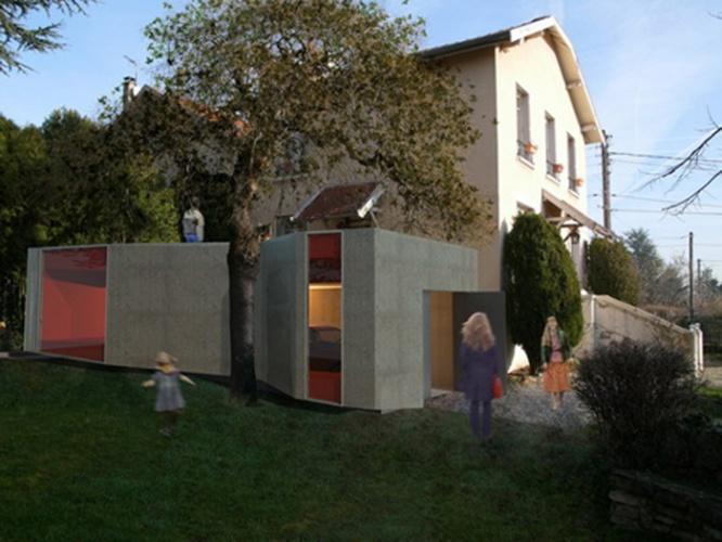 Extension d'une maison à Rilleux