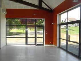 Construction d'un bloc sanitaire et salle d'accueil : La salle d'accueil