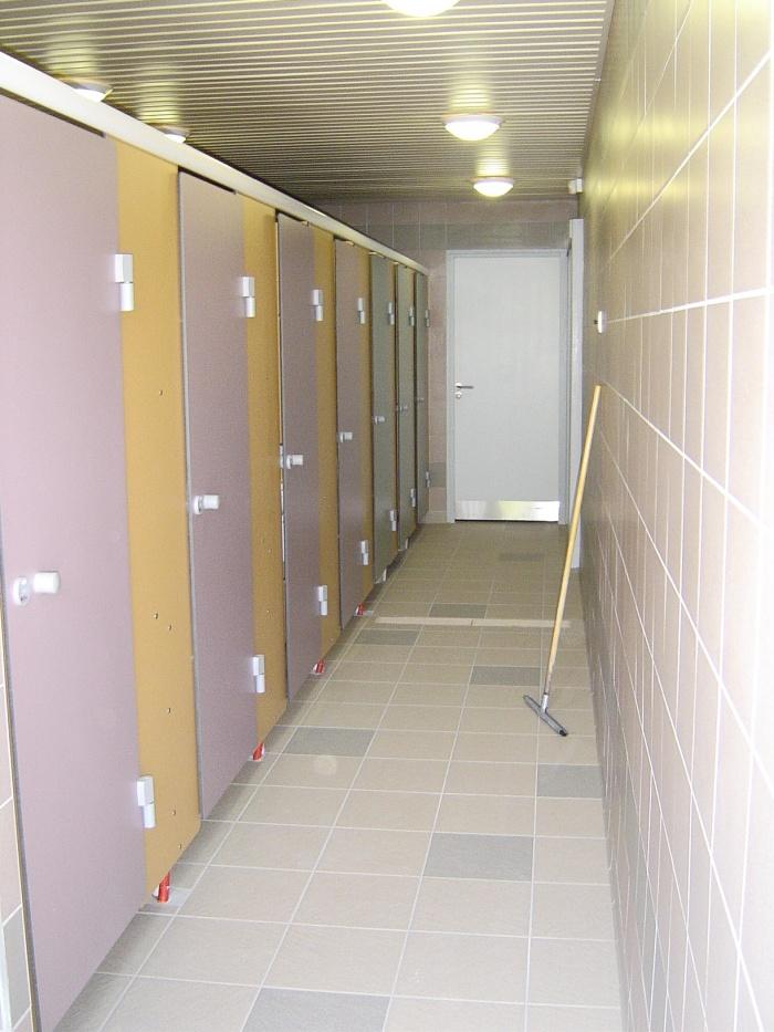 Construction d'un bloc sanitaire et salle d'accueil : Espace douche