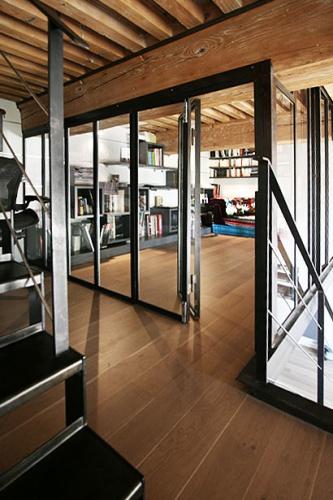 Rénovation appartement avec plusieurs niveaux : appartement-renove-croix-rousse-mezzanine-acier4