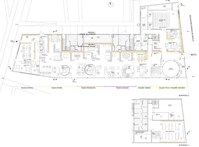 Médiathèque de Colombes : plan