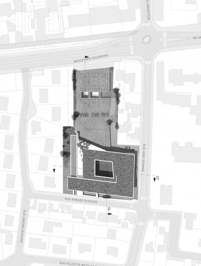 Reconstruction du Collège Marcel Pagnol : plan masse