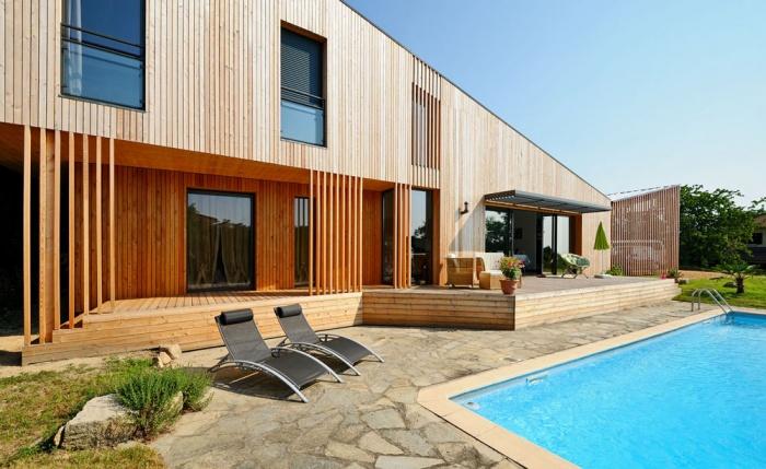 Maison contemporaine bois & ouate de cellulose / Basse énergie : 03_PARA.jpg