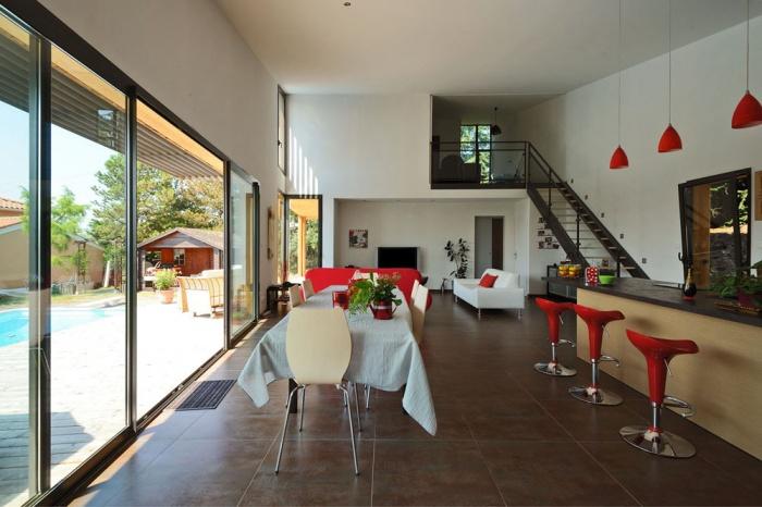 Maison contemporaine bois & ouate de cellulose / Basse énergie : 06_PARA.jpg