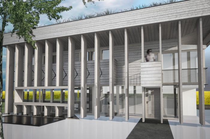Villa B2 : Vue sur cour
