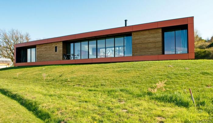 Maison contemporaine bois & paille