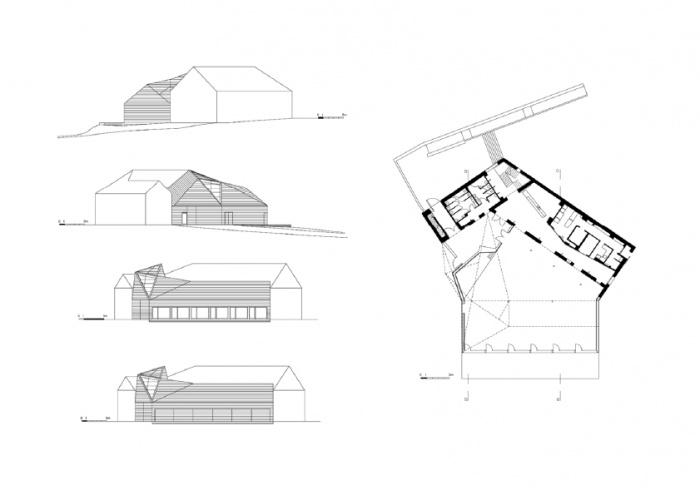 Réhabilitation/Extension de la ferme du couvent en salle de réception : MEP-CHFbis