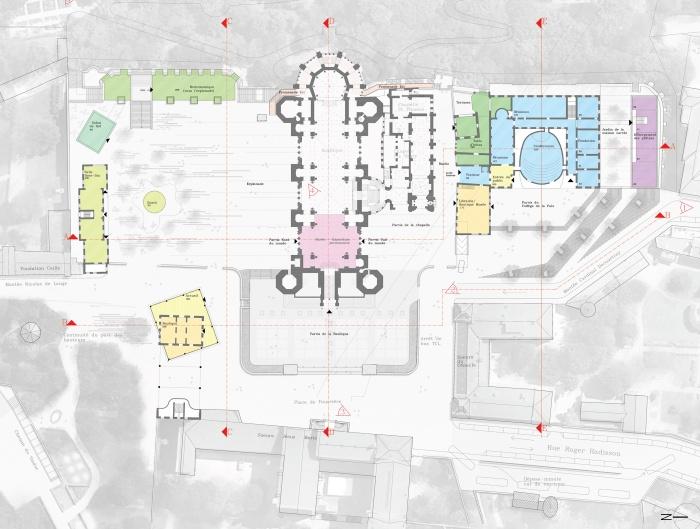 Un dessin pour Fourvière : plan de RDC