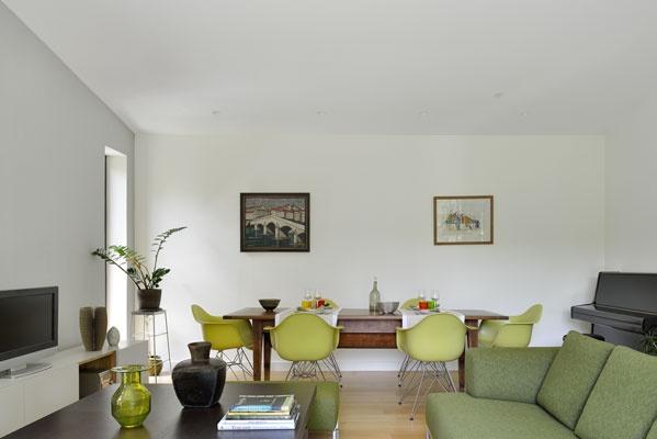 Extension maison individuelle : salon