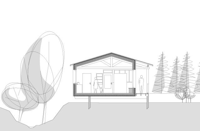 Construction d'une maison en ossature bois : fost-architecture_GRAN_07_coupe_item-type-6