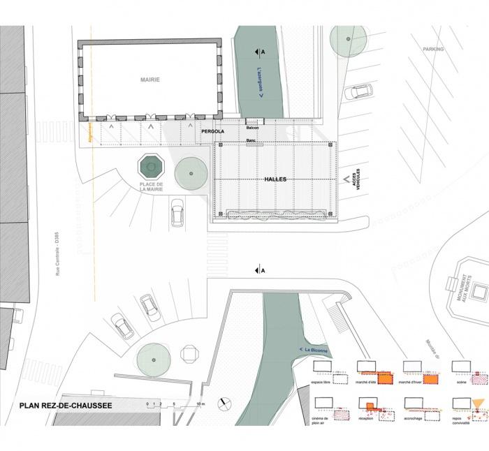 les halles de la mairie : plan_usages