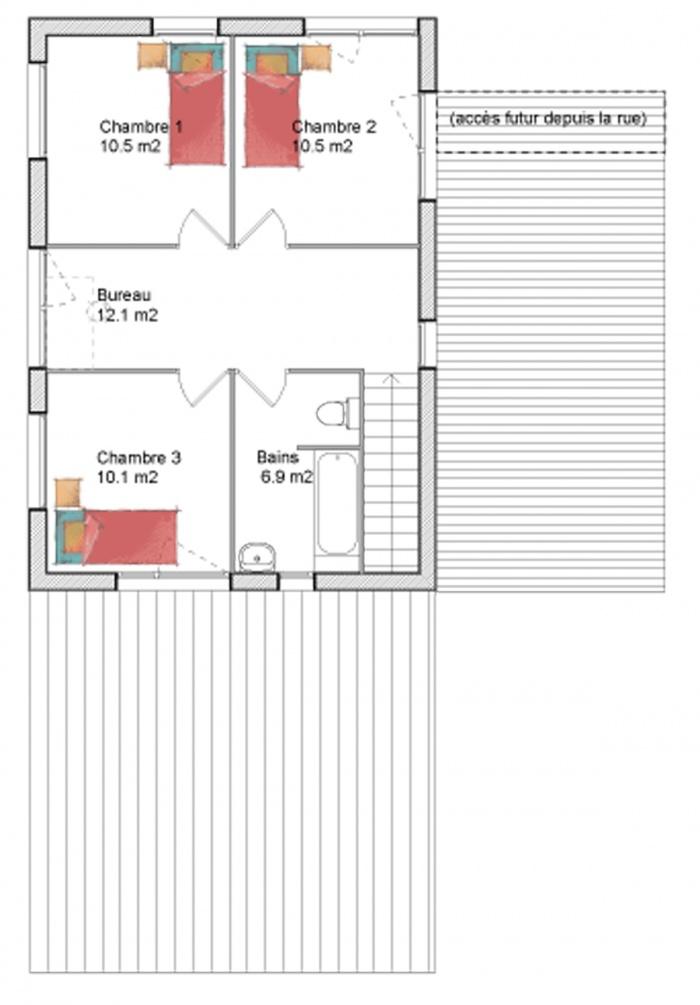 Maison individuelle : étage