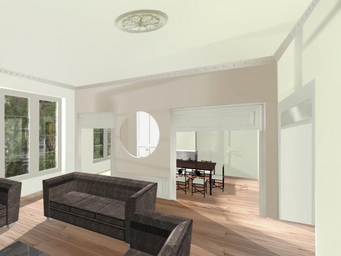 Rénovation totale d'un appartement bourgeois sur les quais de Saône.