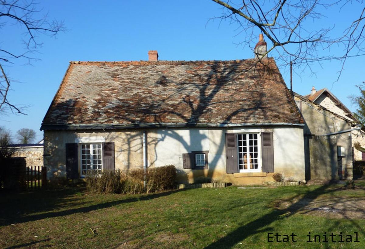 Rénovation d'une maison : Façade Est avant travaux