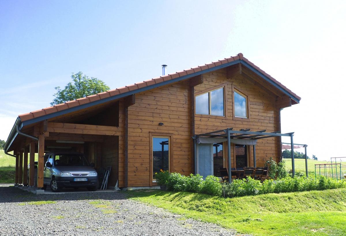 Maison en madriers bois